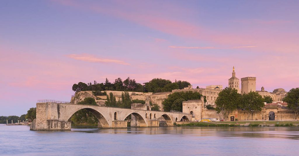 Avignon at sunset