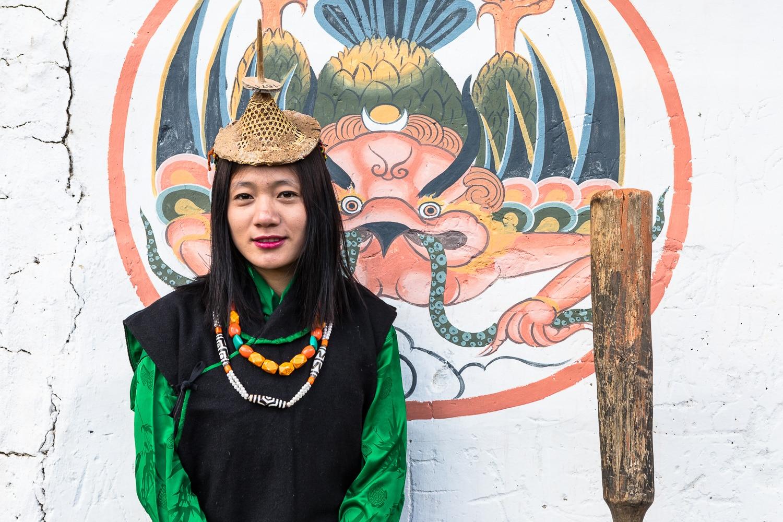 A local Bhutanese woman