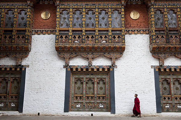 Monk in Punhaka Dzong