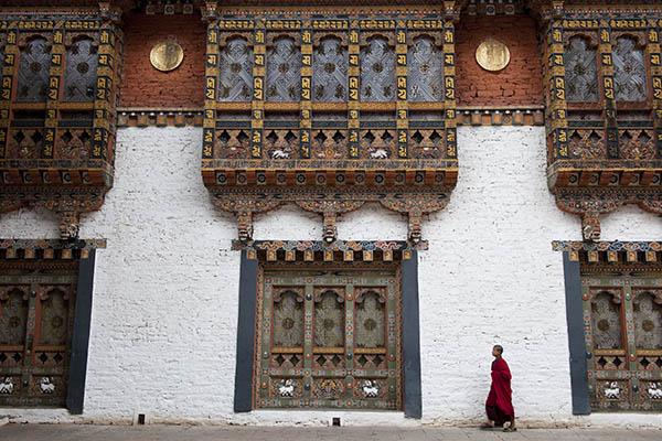 Monk in Punhaka Dzong