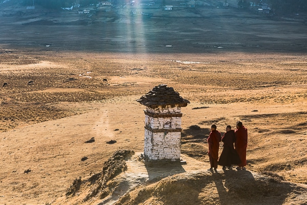 monks posing for a photo
