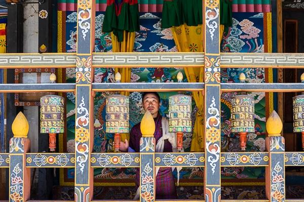Monks in dzong