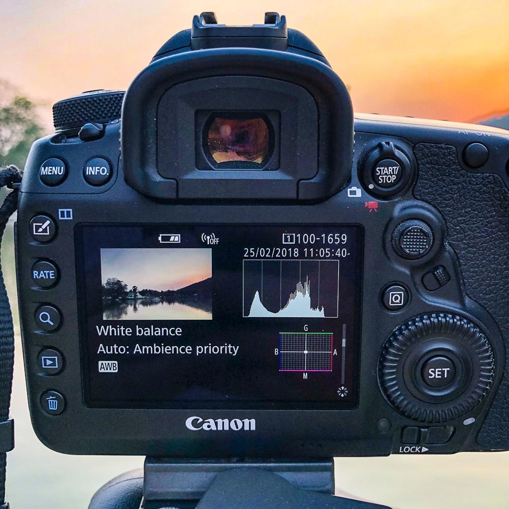 histogram for landscape photography