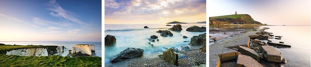 Set of images of the Jurassic coast