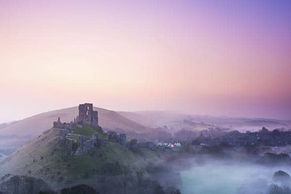 Corfe Castle on the Jurassic coast photography workshop