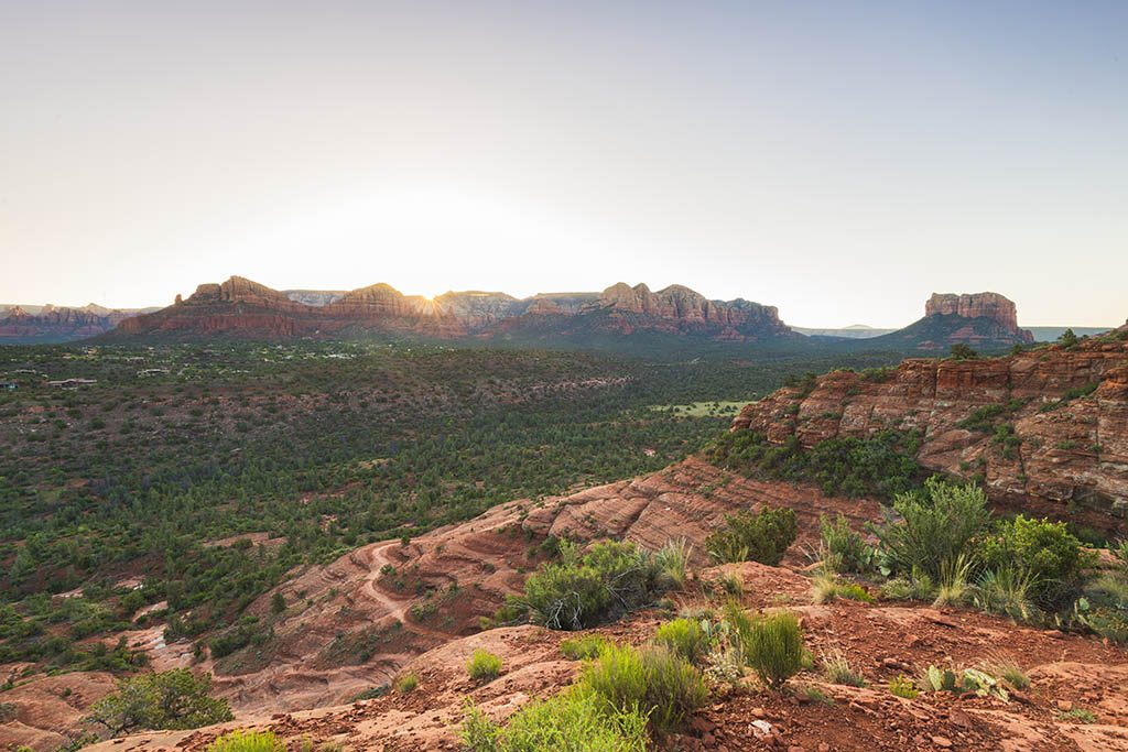 Sedona Photography Courthouse and bell rocks