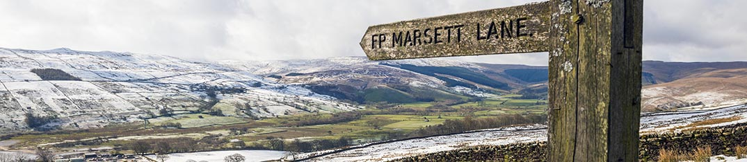 Yorkshire Dales on a snowy Yorkshire Dales Photography Workshop