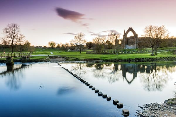 Bolton Abbey at sunrise