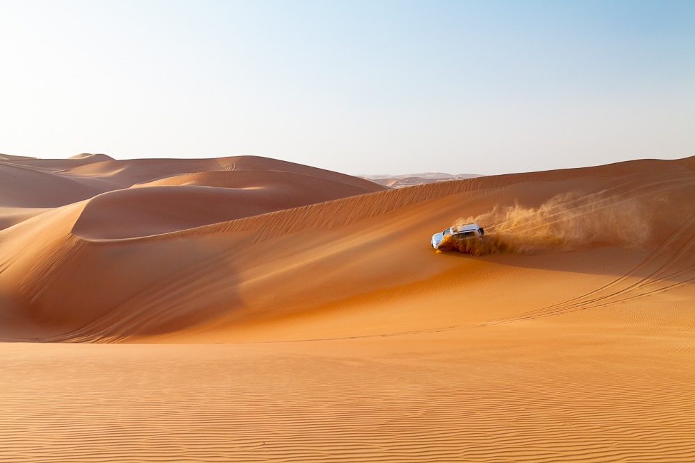 point of interest in desert photography