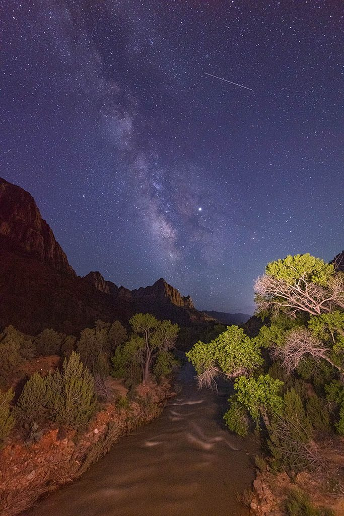 Milky Way in Zion national park