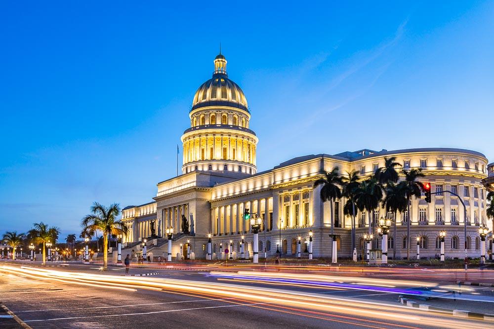 El Capitolo Havana Cuba Blue Hour