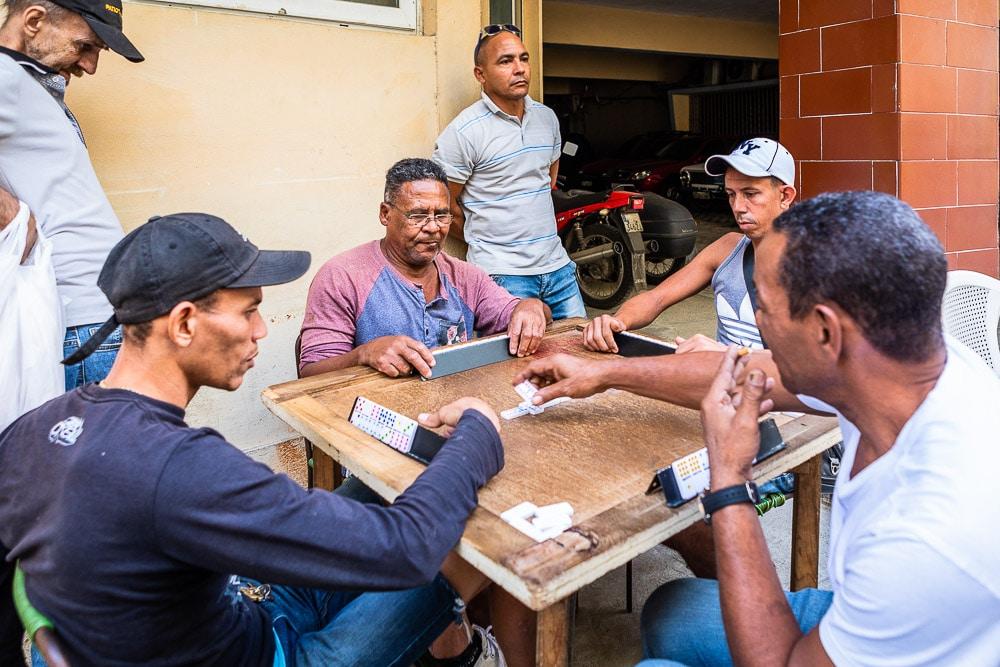 Men playing dominos in Old Havana