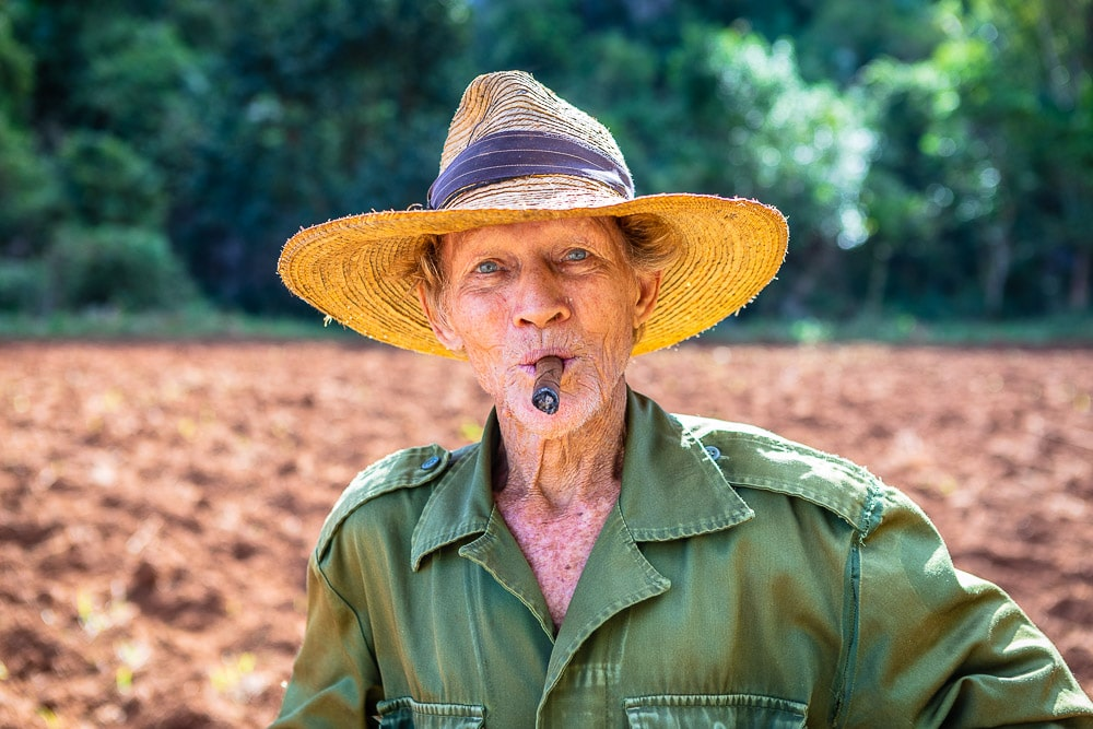 portrait of farmer in cuba