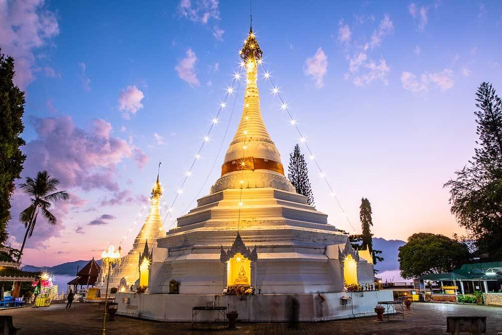 Wat Phrathat Doi Kongmu, Mae Hong Son, Northern Thailand, Thailand