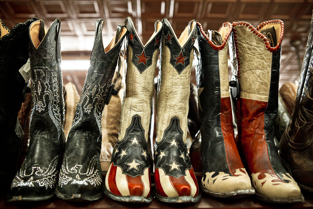 Cowboy boots in Texas USA