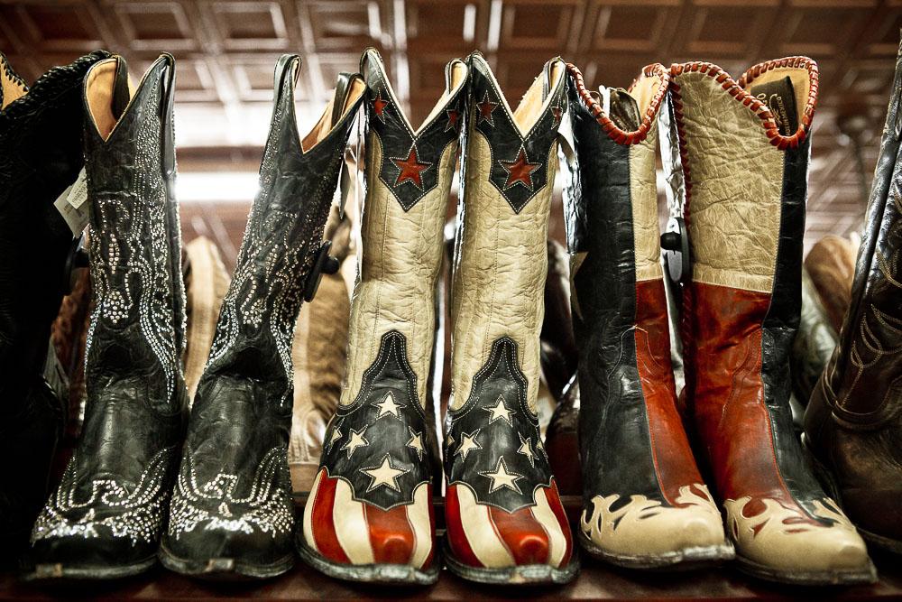 Cowboy boots in Texas USA