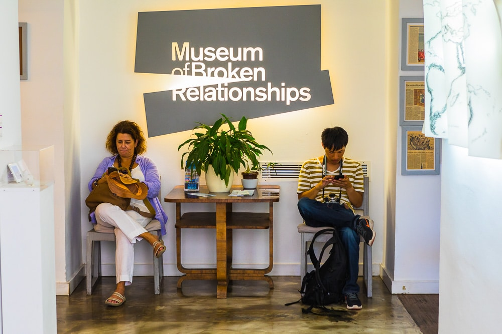 Entrance of the Museum of Broken Relationships, Zagreb, Croatia, Europe